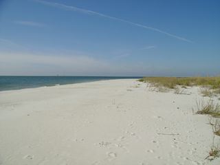 Dauphin Island condo photo - White sandy beach, relax, play, or go fishing!!