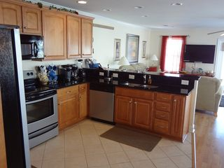 Garden City Beach house photo - Fully stocked kitchen and appliances. Granite countertops.