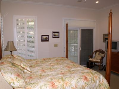 Master Bedroom with door to rear deck.