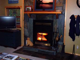 Deadwood cabin photo - DML's Warm Fireplace with 40
