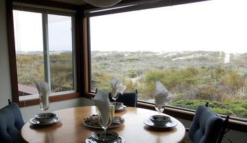 Monterey house rental - 'Share dinner and sunset with your family from the dining room'