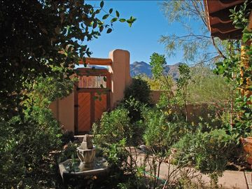 Tubac house rental - View of the Tumacacori Mountains from the front courtyard
