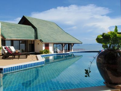 Ban Bang Makham villa rental - The large Private Pool from the sala