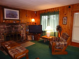 "Ruidoso cabin photo - Living Area complete with 42"" Flat Screen, Dish, and Surround Sound"