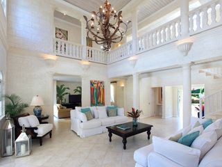 Sandy Lane villa photo - Large, airy living room opens out onto the covered patio and pool deck