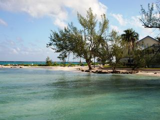 Grand Cayman condo photo - Retreat at Rum Point - Beach as seen from Rum Point Beach Club pier