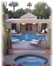 Rancho Mirage estate rental - The Hacienda Private Courtyard With Pool & Jacuzzi For Our Guests To Enjoy...