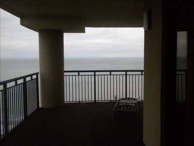South Wind condo rental - HUGE wrap around balcony.