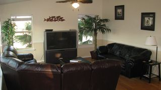 South Padre Island house photo - Living room with ocean view!