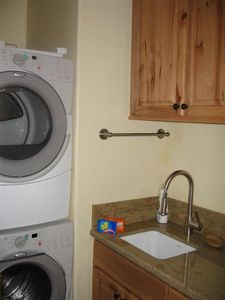 The Laundry Room has Whirlpool Duets. Handcrafted granite throughout the house.