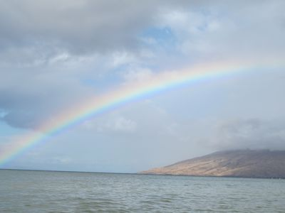 gorgeous rainbow over Maui