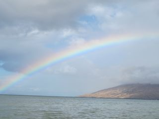 Kihei condo photo - gorgeous rainbow over Maui