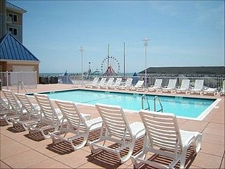 Belmont Towers Ocean City condo photo - Roof deck swimming pool with Views and putting green