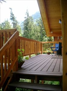 Back Covered Deck with Alpine Views