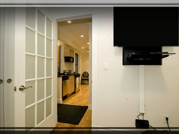 Private Locking Door Right With Private HDTV and Remote Control AND DVR Recorder