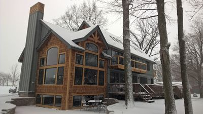 Beautiful Brand New Cabin on Balsam Lake! 5500 SF! 75 Min from MSP! Cozy & Quiet