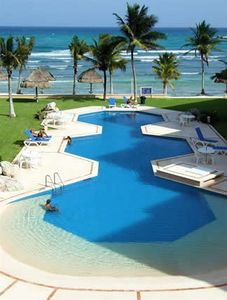 A Most Delightful Place to Swim and Relax in this Beach-Entry Pool.