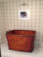 Woodstock farmhouse photo - Master bath soaking tub.
