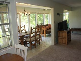 Leander cottage photo - View of dining and sunroom from kitchen