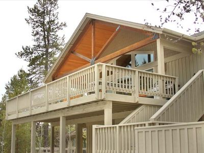 Sunriver house rental - South West Facing Deck
