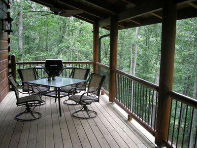Porch overlooking the New River