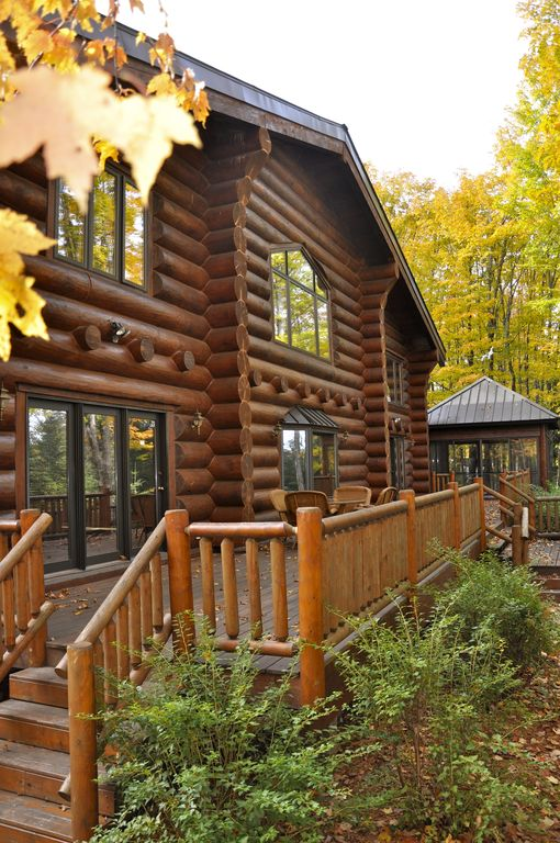Fully furnished log home in one of northern Wisconsin's last wilderness areas