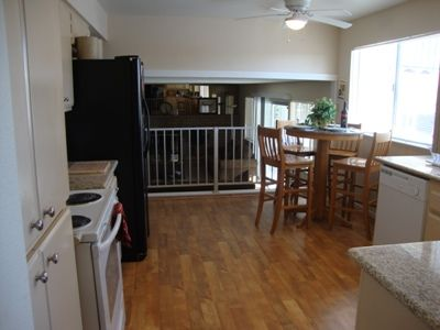 open plan fully equipt.Kitchen with new appliances.