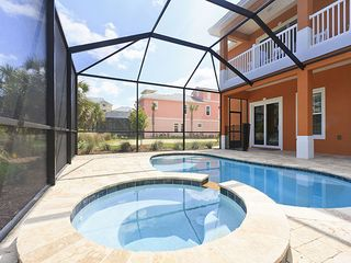 Palm Coast house photo - Enjoy our private heated pool and spa