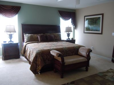 Updated King-Size Bed in the Master Suite