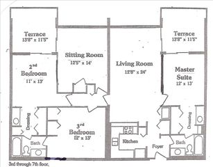 Okaloosa Island condo photo - Floor plan