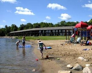 Breezy Point cabin photo - Pelican Lake beach w/ kids playground