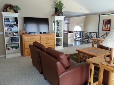 Whitefish house rental - 60' LCD Flat screen TV for your viewing pleasure.