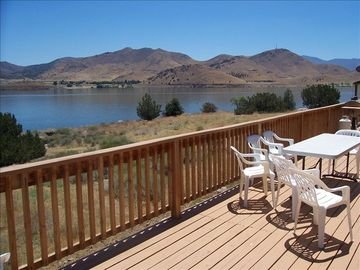 Lake Isabella house rental - view from the back deck, there's a propane BBQ to the right