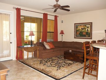 Scottsdale Grayhawk townhome rental - Comfortable great room with large flat screen TV