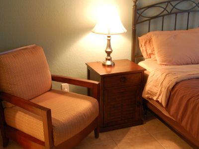 Bedside Chair in the Master Bedroom