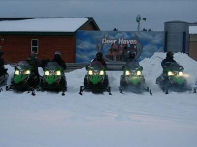 We Now Have Snowmobiles! rental starts at $175/day