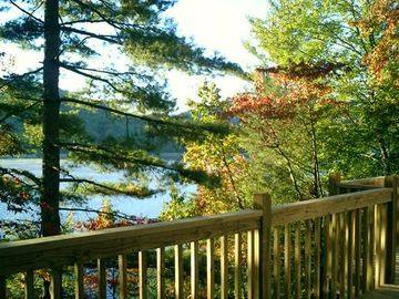 Lake Nantahala house rental - Enjoy a great view from every room with only a one minute walk to the lake.