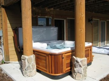 7 Person Deluxe HotTub located under covered deck