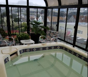 Solarium and Hot Tub