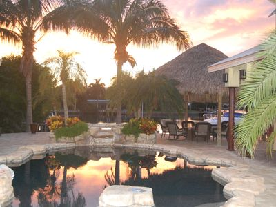 OUR BACKYARD AT SUNSET, ENJOY TIME RELAXING UNDER PALAPA LOOKING OUT ON THE BAY