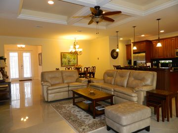 Family room open floor plan