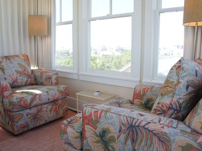 Tower room with view of the gulf.