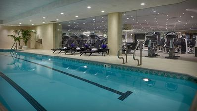 Enormous lap pool and full gym