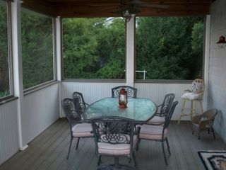 Gloucester house photo - Screened porch to dine or relax