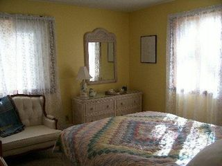 Vineyard Haven house photo - Yellow bedroom downstairs queen