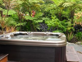 Hilo bungalow photo - Enjoy the outdoor garden spa with UV light water purification and infrared sauna