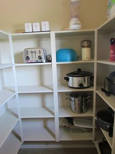 Queen Creek house rental - Pantry shelves