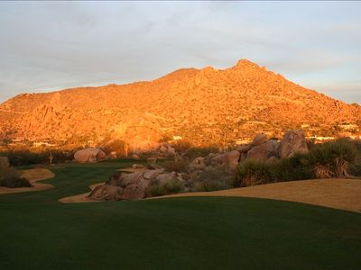 Carefree villa rental - Golf at The Boulders is spectacular