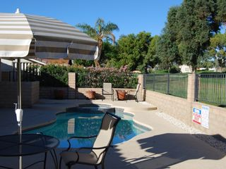 Palm Desert house photo - Back yard with pool and spa