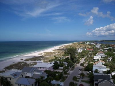 Fabulous panoramic view of beach and intercoastal waterway from balcony of condo